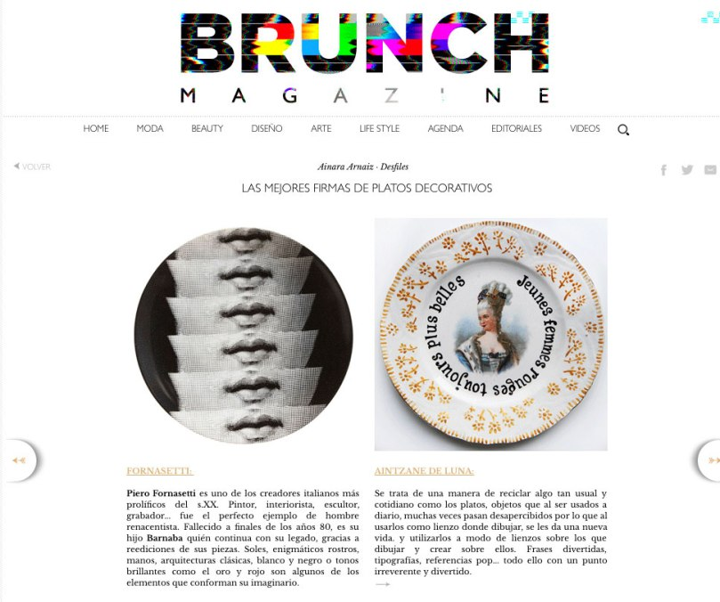 Deluna Ceramics en Brunch Magazine