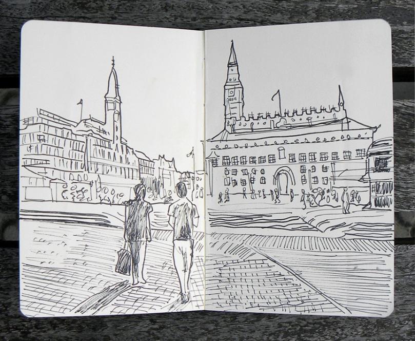 Radhuspladsen, la plaza del Ayuntamiento de Copenhague