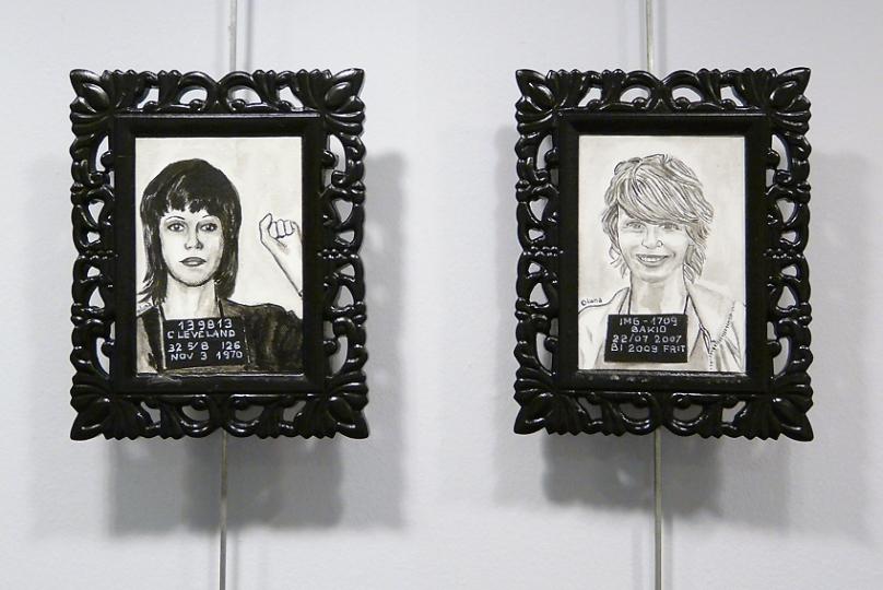 """Retratos en óleo sobre tabla entelada, de la serie """"Fichados"""". 2009."""