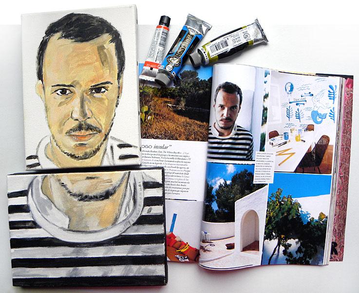 """Retrato de Jordi labanda. Detalle del tríptico """"El Jordi no está tan mal"""". 2010."""