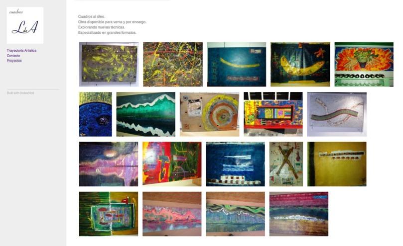 Página del pintor Javier Lombana de Ariño