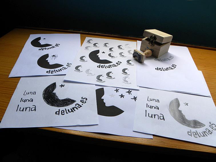 Bocetos y sello para deluna.es. 2010.