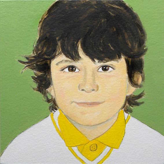 Retrato de Bosco. Óleo sobre madera. 2010.