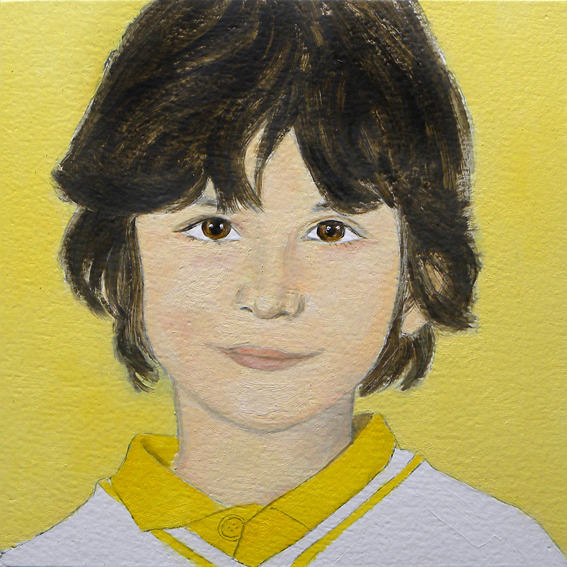 Retrato de Bruno. Óleo sobre madera. 2010.