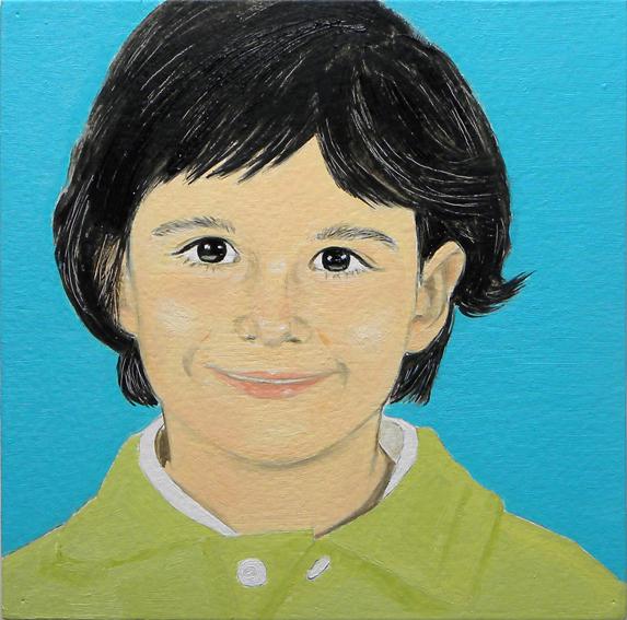 Retrato de Jimena. Óleo sobre madera. 2010.