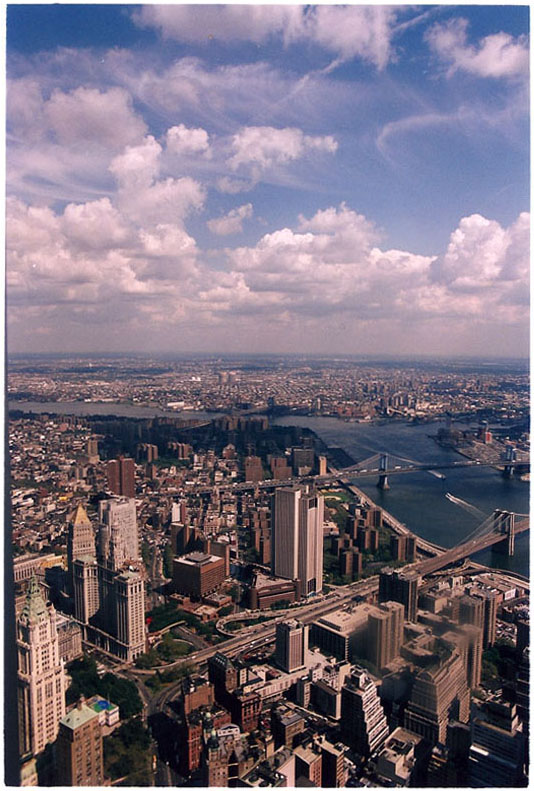 Vista desde el World Trade Center. Nueva York. Septiembre 1998.