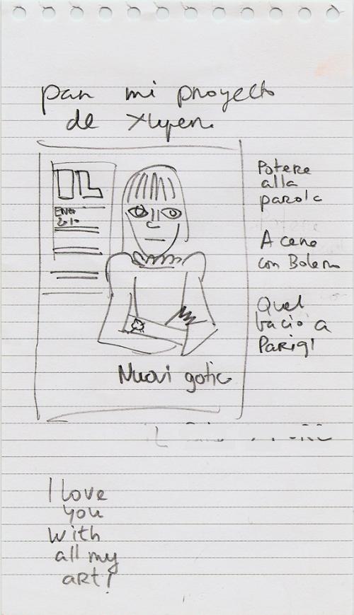 Sketches. Bocetos para proyecto de exhibición. 2010.