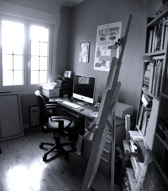 Art Studio. Estudio en blanco y negro. 2010.
