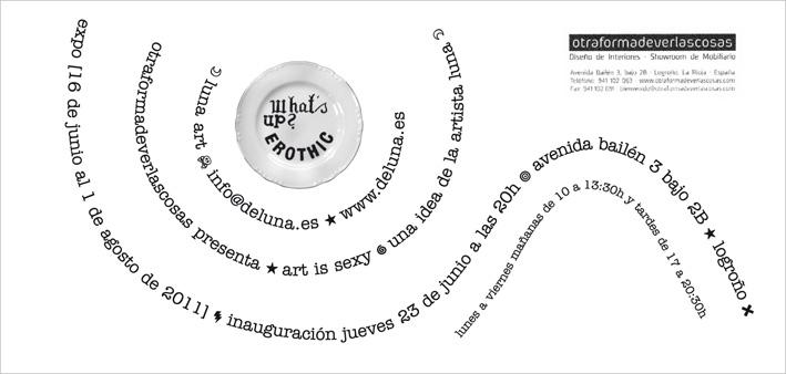 Diseño de flyer para expo Luna. 2011