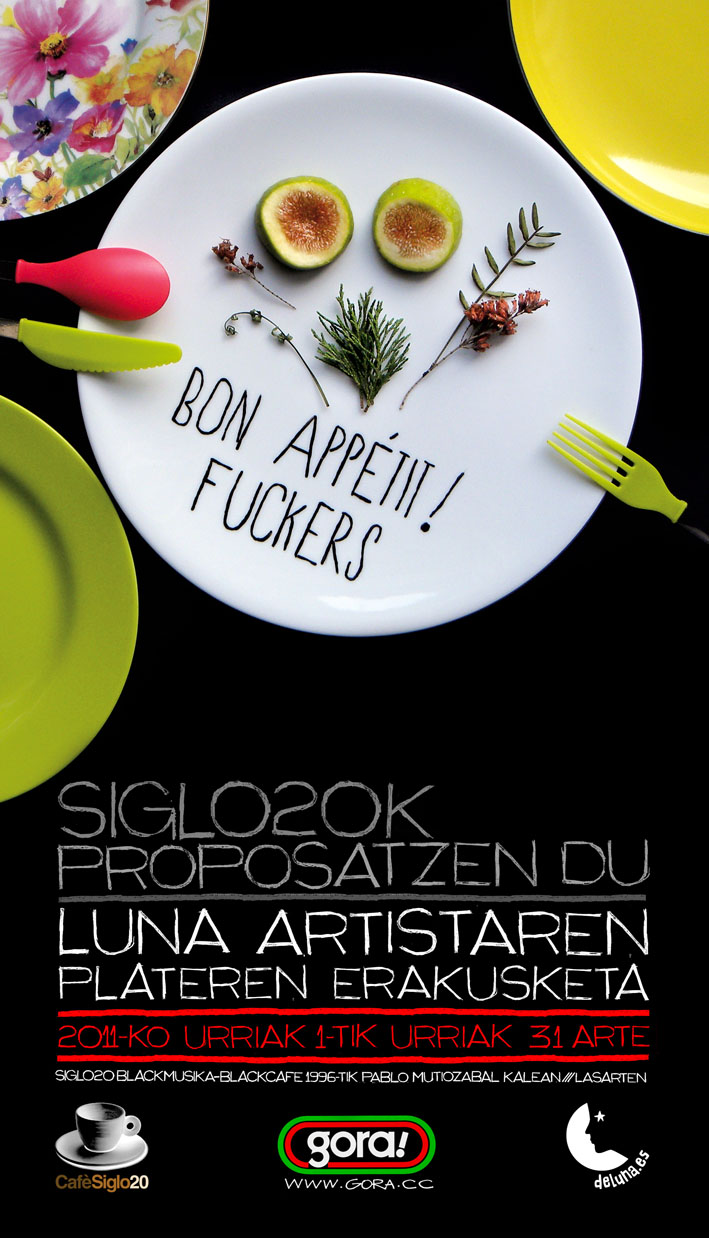 Diseño de cartel para la exposición bon appétit