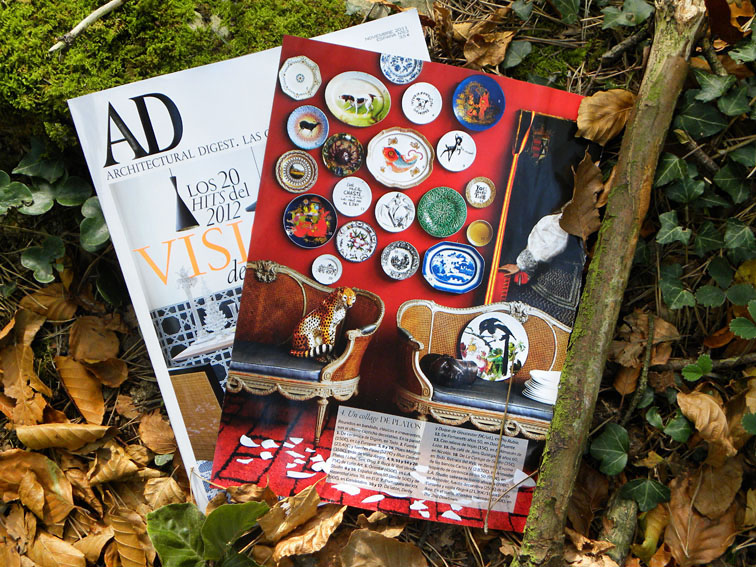 Luna Art plates in AD Architectural Digest