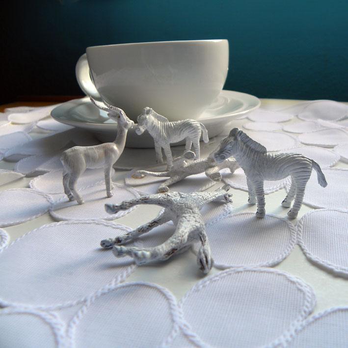 Having tea