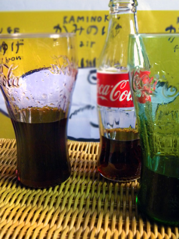 Having a coke with you