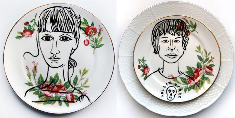 Retratos sobre platos