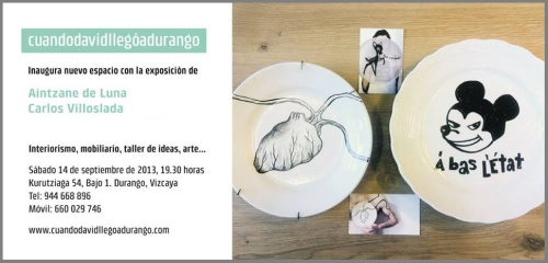 An exhibition of ceramics by by Aintzane De Luna and Carlos Villoslada