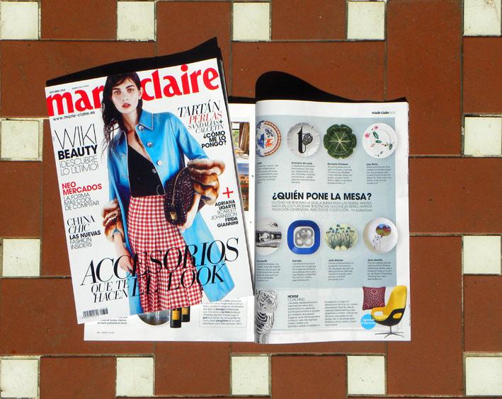 Los platos Luna Art en Marie Claire Octubre 2013
