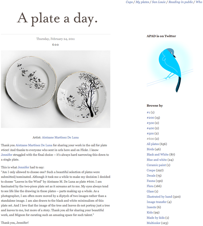 Luna en A plate a day