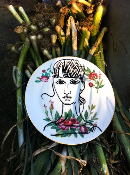 Portraits on plates