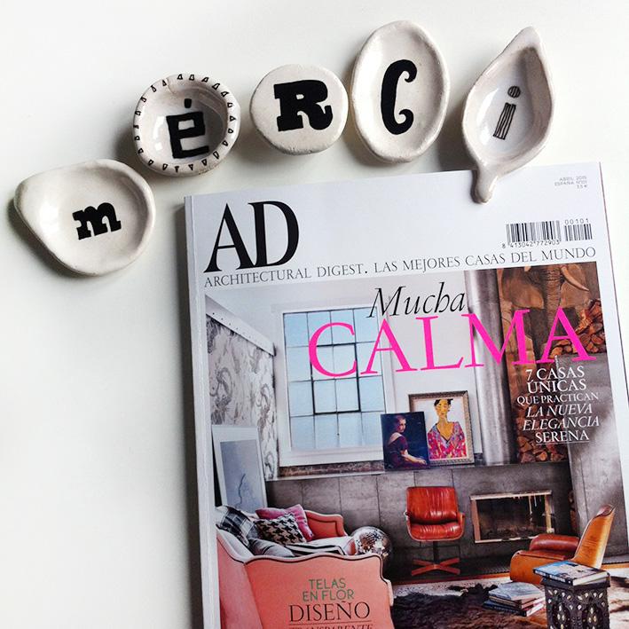 Luna Art Ceramics en AD Magazine