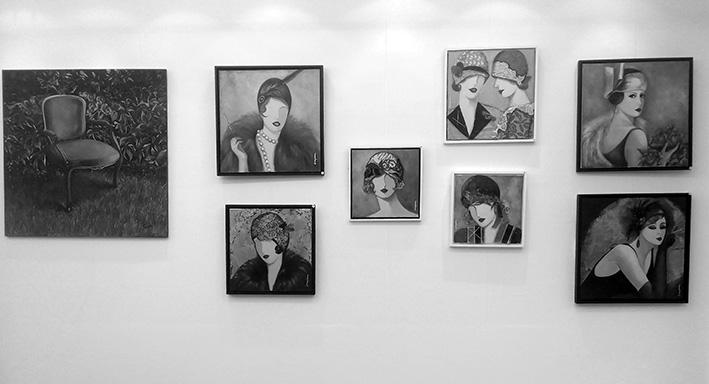Amaya Fariza y Elda Aragüena en Galería Fariza