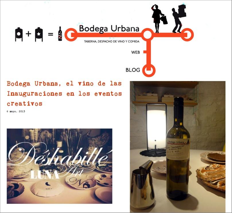 Aintzane De Luna con Bodega Urbana en Narata
