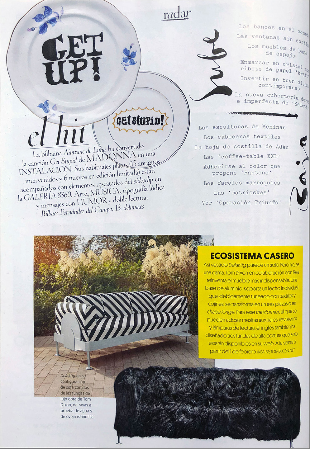 Aintzane De Luna en Revista AD Architectural Digest