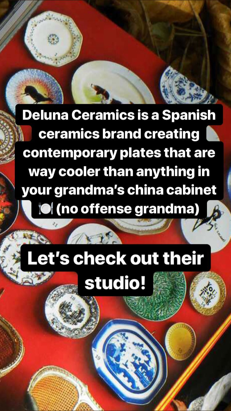 Deluna Ceramics Studio Tour on Tictail channel