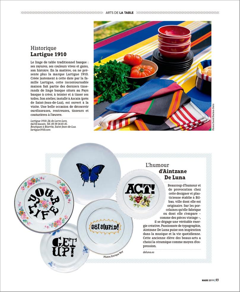 Deluna Ceramics en Sud Ouest Gourmand Magazine