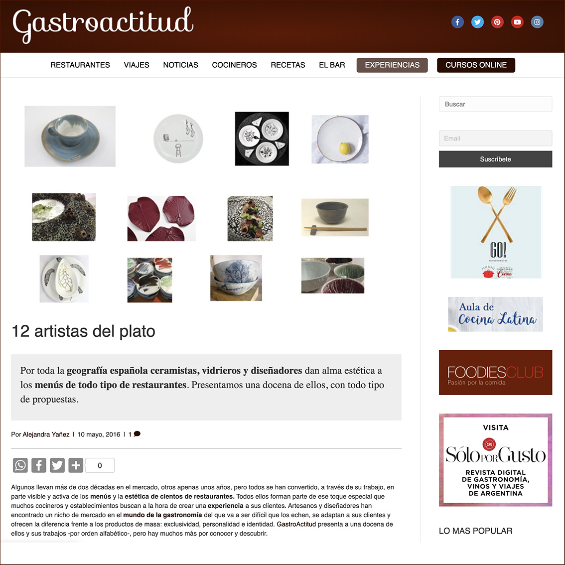 Deluna Ceramics en Gastroactitud