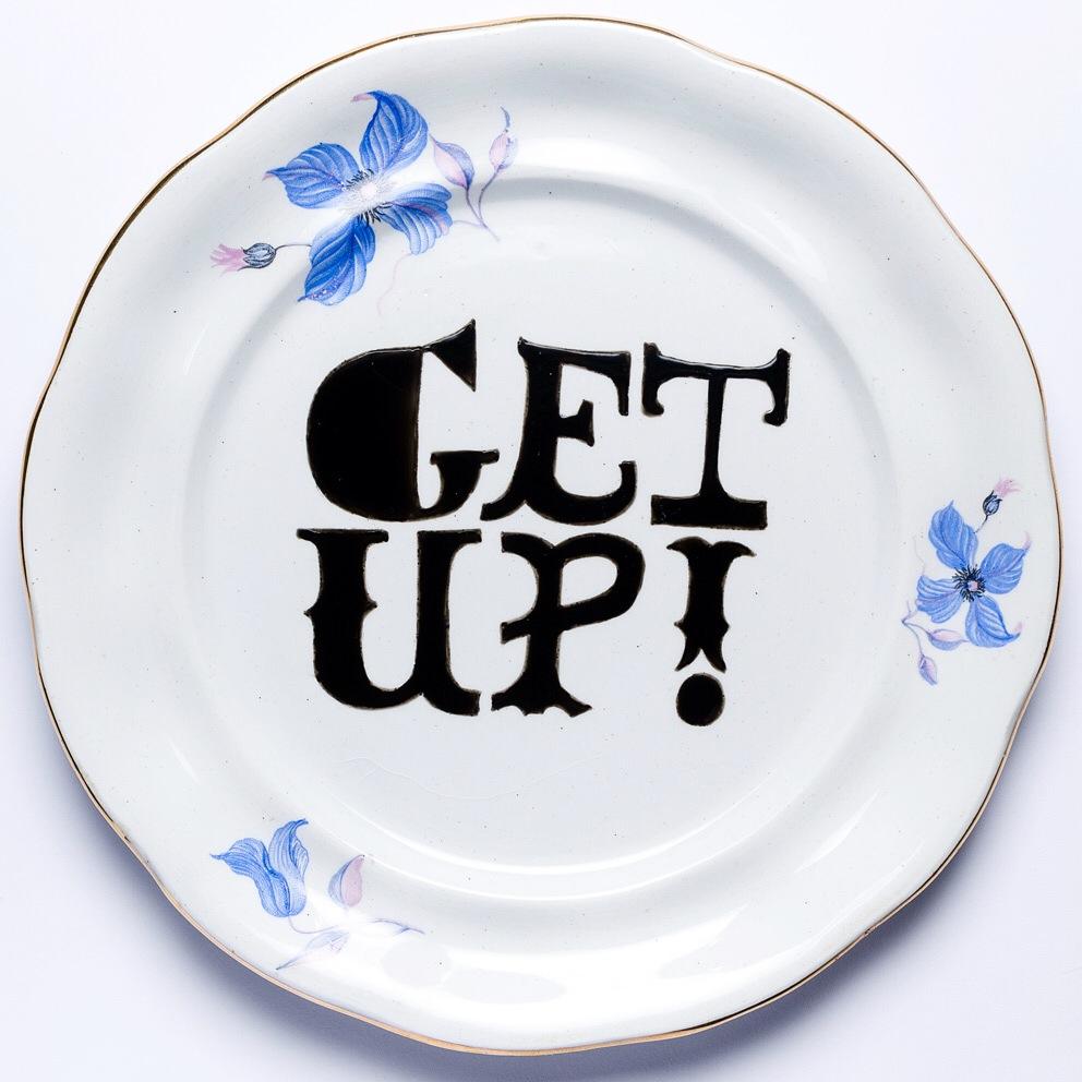 GET UP! Porcelanas & Mariposas por Deluna Ceramics