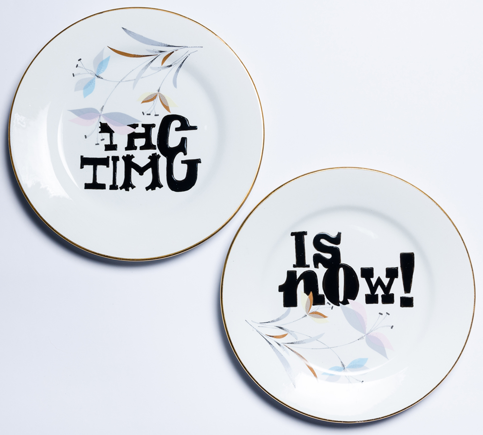 THE TIME… IS NOW! Porcelanas & Mariposas por Aintzane de Luna