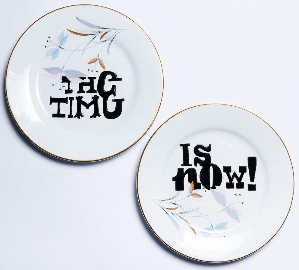 THE TIME… IS NOW! Porcelanas & Mariposas por Aintzane de Luna